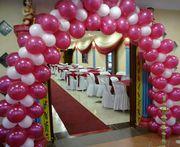 Украшение зала воздушными шарами. Арки из воздушных шаров