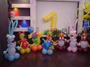 Оформление шарами детских праздников. Воздушные шары,  цифры,  фигуры