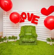 Фото зона для 14 февраля,  день Святого Валентина,  аренда Алматы